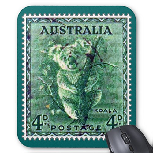 Price comparison product image Zazzle Australia Koala Bear Vintage Stamp Mouse Pad