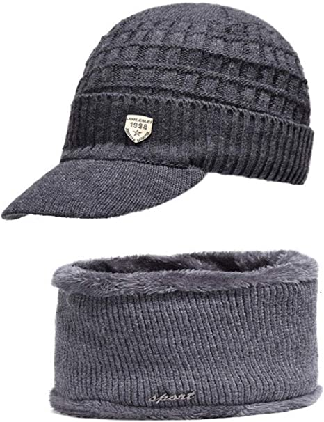 QIANWEIXI Gorras De Hombre Invierno Simpe Winter Hat Skullies ...