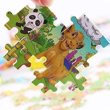 Rompecabezas Para Niños 60 Rompecabezas Del Mundo Animal Rompecabezas De Dibujos Animados Para Niños Rompecabezas De Madera Juegos De Juguetes Para Niños Embalaje De Caja De Lata Juguetes Educativos