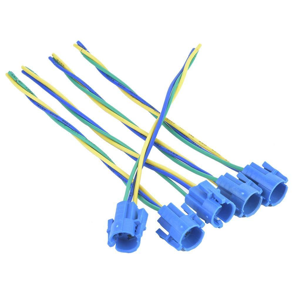 5pcs C/âbles de C/âblage pour Interrupteur /à Bouton-poussoir en M/étal 3 Fils Adaptateur de Douille de Queue de Cochon en Ligne 16mm pour BEM-16-11 Commutateur de Bouton Poussoir
