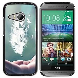 - Feather Funny - - Caja del tel???¡¯????fono delgado Guardia Armor FOR HTC ONE MINI 2 / M8 MINI Devil Case