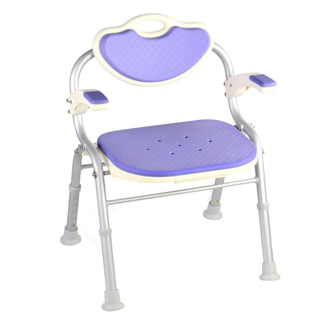 LXN シャワーチェア折り畳み式 - 高齢者、妊婦、障害者に適用 (色 : パープル ぱ゜ぷる) B07D7N6ZXN パープル ぱ゜ぷる パープル ぱ゜ぷる