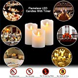 Flameless Battery Operated Flicking Candles:Remote