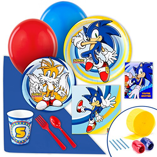 BirthdayExpress Sonic the Hedgehog Party Supplies - Value Party Pack