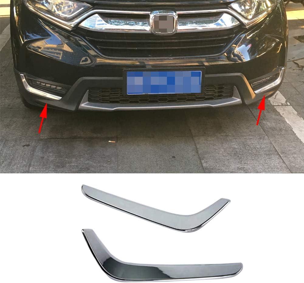 Luocky Chrome Front Fog Light Lamp Cover Trim ModellingStickers for Honda CR-V CRV 2017 2018 2019 Exterior Accessories
