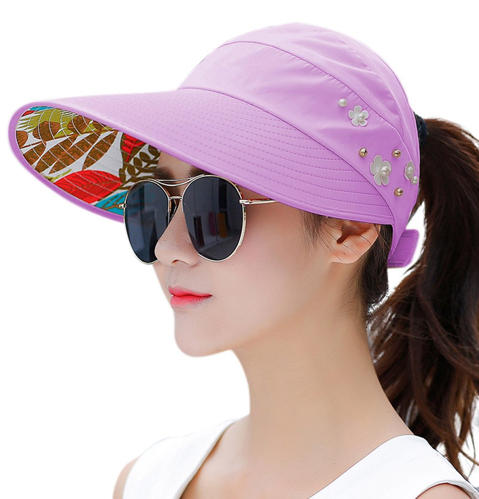 HINDAWI Sun Hats For Women Wide Brim Sun Hat UV Protection