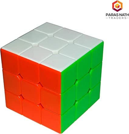 PNT High Stability Stickerless - 3X3X3 Speed Cube with Adjustable Tightness (Multicolour) (Pack of One)