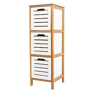Comoda con 3 cajones,Organizador de armarios y vestidore,Cajoneras para armarios,para el dormitorio o el cuarto de los niños,86x32x30cm Blanco