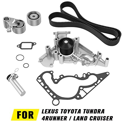 Timing Belt Water Pump kit for Toyota 4Runner 2003-2007, Tundra 2000-2009,  Sequoia 2001-2009, Land Cruiser 1998-2007 | 1998-2009 Lexus GS400 LS400