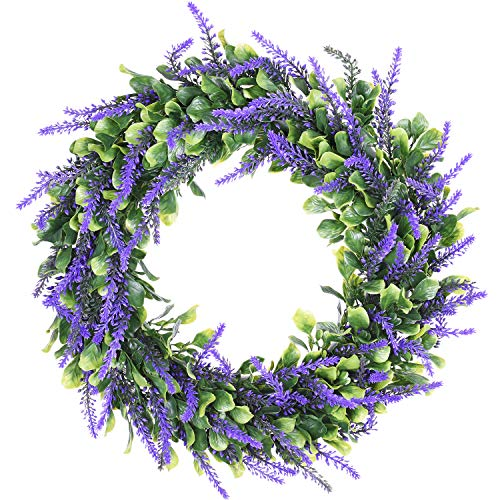 (Lvydec Artificial Lavender Wreath, 15