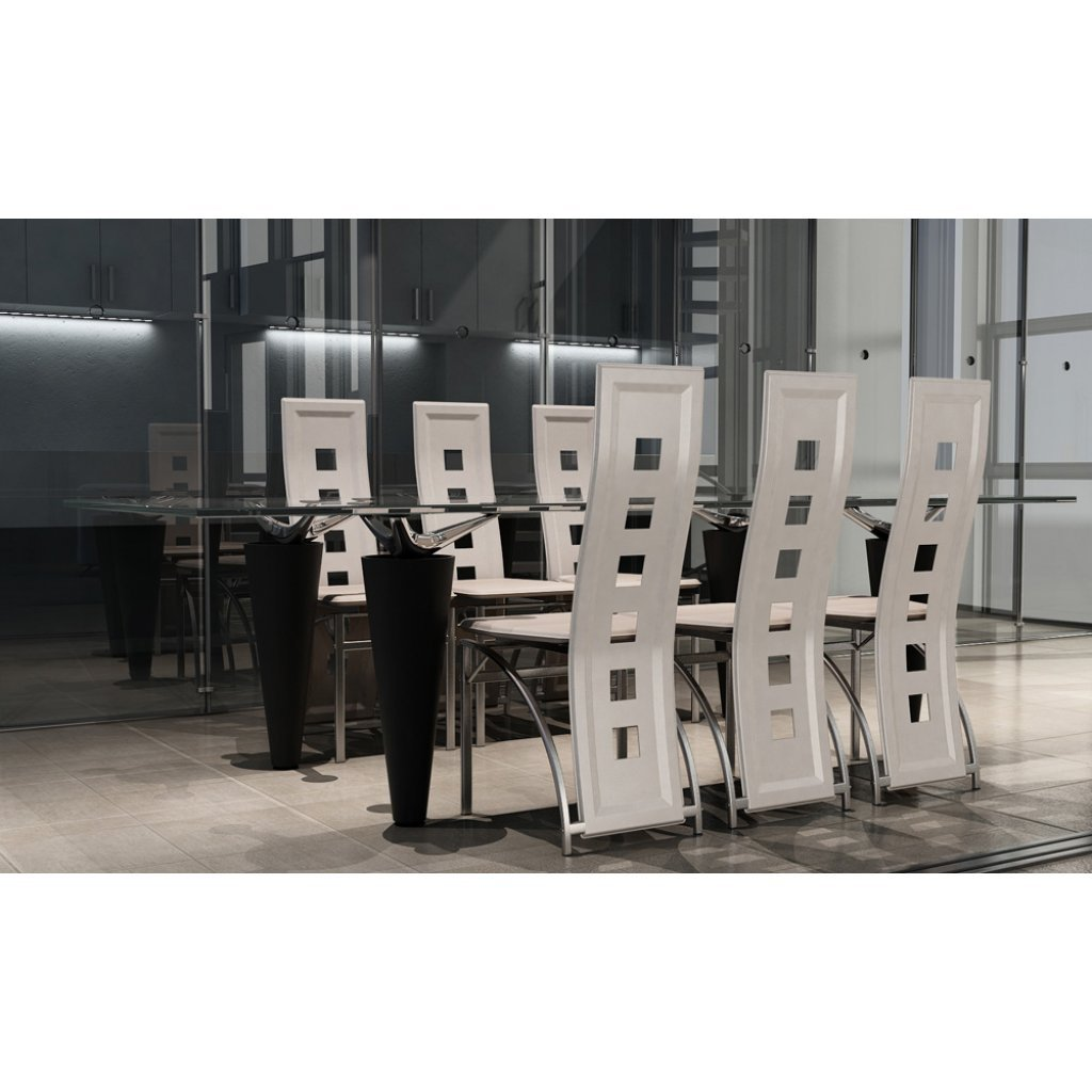 sedie moderne design ecopelle bianche, sedie pranzo, cucina e ... - Soggiorno E Cucina Moderna 2