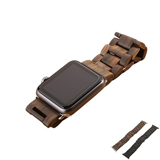 13 opinioni per Cinturino Apple Watch, Sumgar® 38mm Apple Watch Band Strap Legno Naturale