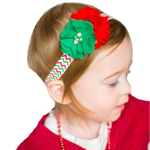 Christmas Headband For Baby Girl.Amazon Com Miugle Baby Girls Christmas Headbands With Bows