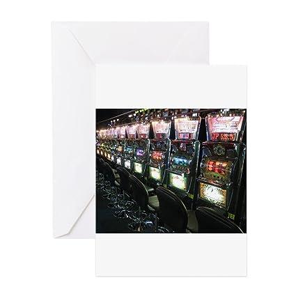 Amazon cafepress casino slot machine greeting cards cafepress casino slot machine greeting cards greeting card note card birthday card m4hsunfo