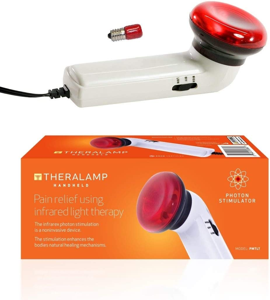 Red Light Therapy Infrared Heating Wand by Theralamp – Hand Held Heat Lamp with Replacement Bulb – Muscle Pain Relief, Increased Blood Circulation