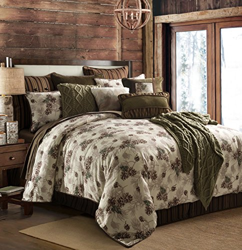 HiEnd Accents Forest Pine Comforter Set, Queen by HiEnd Accents