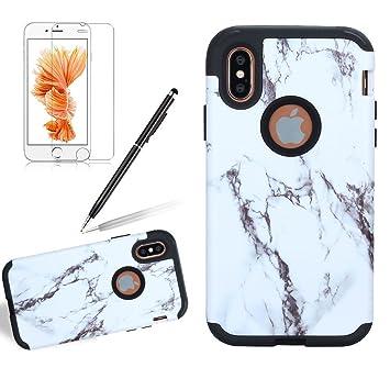 coque iphone x rigide marbre
