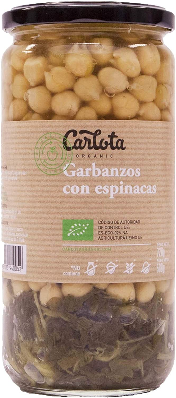 CARLOTA GARBANZOS con ESPINACAS Ecológico organic 720gr ...