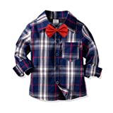 Nwada Little Boys Clothes Sets Bow Ties Shirts