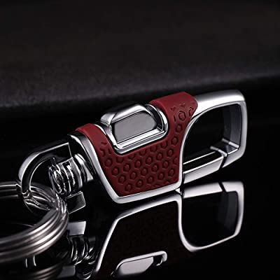 LanMa Key Chain Stainless Combination of Luxury Car Business Keychain, Power & Elegance Key Holder for Men and Women -Red: Automotive [5Bkhe1503346]