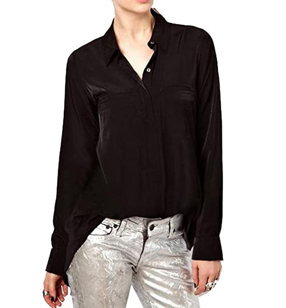 Yayu para mujer chifón Fashion blusa de manga larga Otoño Tops