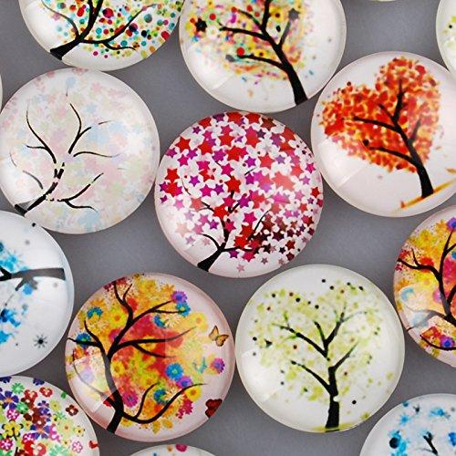25mm Round One Style Mix Pattern Photo Glass Cabochon-20pcs/lot (C4315)