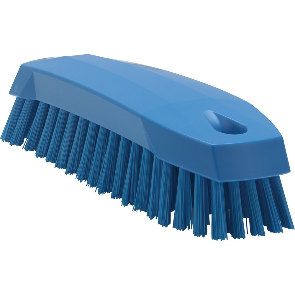 Vikan 35873 Hand Held Scrub Brush Polypropylene Polyester Bristle 7 Blue