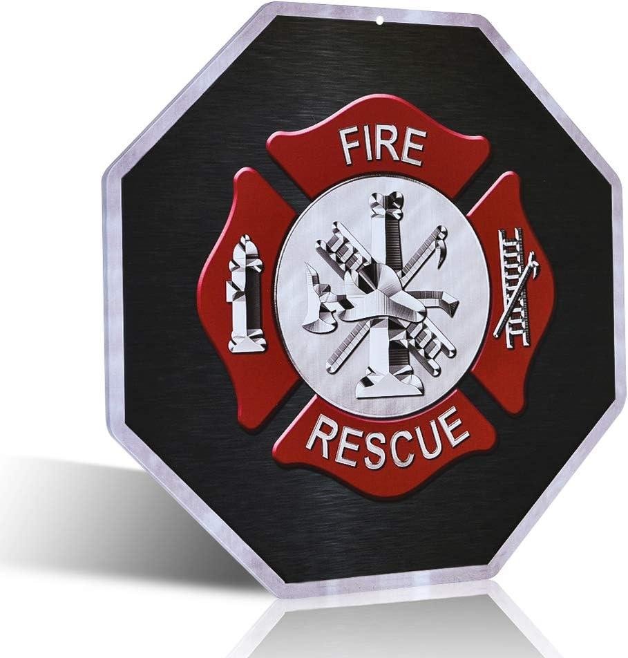 不适用 Firefighter Fire and Rescue Wall Cross Home Decor