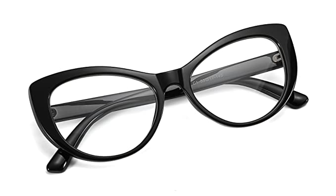 63ff7dd8b8 Image Unavailable. Image not available for. Colour  FEISEDY Womens Cateye  Glasses Frame Printed Eyewear Non-prescription Eyeglasses B2441
