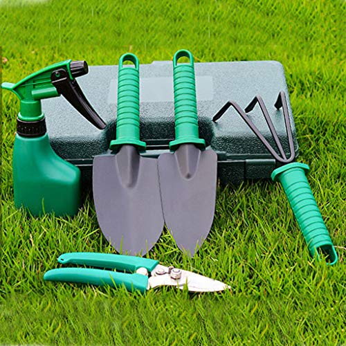 Alisy Gardening Tools Set - Portable 5 Pieces Stainless Steel Garden Tool Sets, Multifunction-Small for Shovel Planting Flower Loose Soil Tool, Household Potted Flower Tool