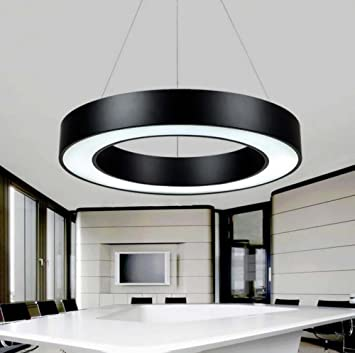 Circular Chandelier Office Lighting Round Hollow Hanging Line Lamp Office  Commercial Pendant Lamp Modern Minimalist Led Office Lighting ( Color :  Pendant ...