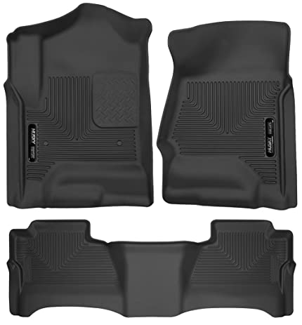 accessory duty gm mats general weather heavy floor front all motors i logo black w rubber sierra xl premium crew cab gmc extended yukon