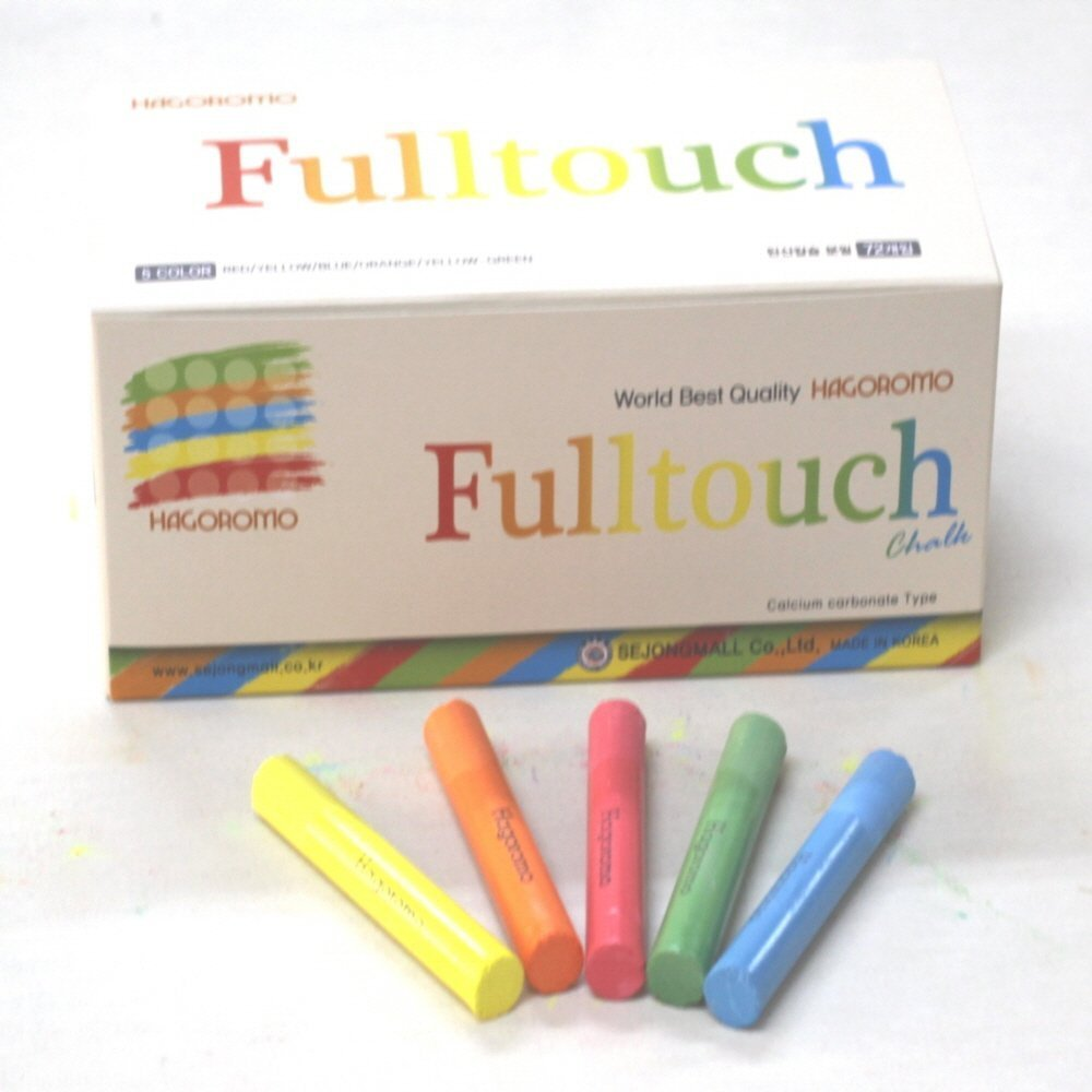 Fulltouch 5-Color Mix Chalk 72pcs & Hagoromo Fulltouch White Chalk 72pcs by Hagoromo