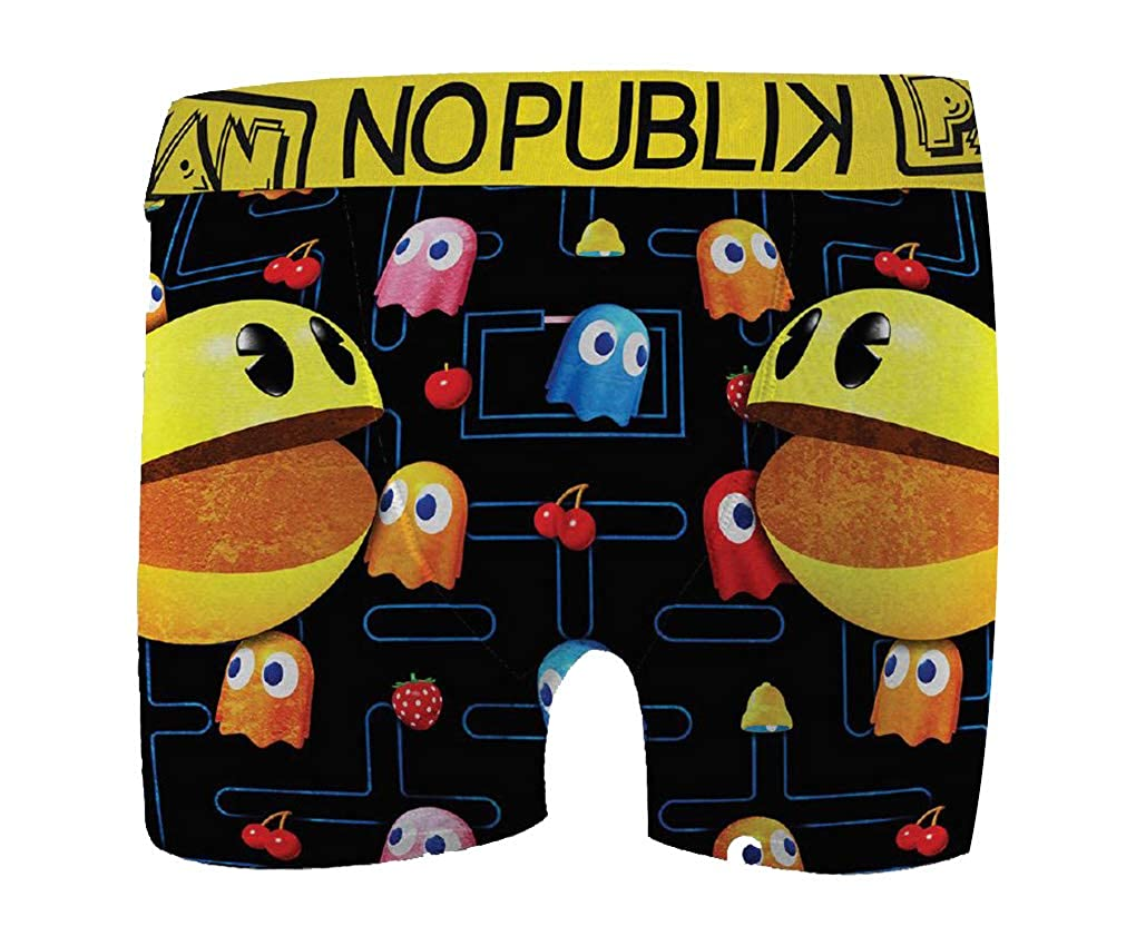 No Publik Boxer Featuring Pacman for Kids Comfort and Fancy Assortment Models Photos According to Arrivals