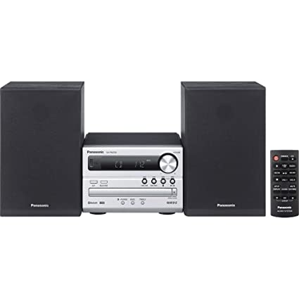 Panasonic Micro HiFi SC-PM250EG-S (20 Watt RMS, CD,UKW, Bluetooth) silber