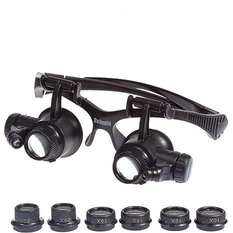9d37817a776f Amazon.com: 10x 15x 20x 25x LED Eye Jeweler Watch Repair Magnifying ...
