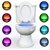 WC luz nocturna, Adoric LED Luz de Inodoro Luz con Detección de movimiento del sensor automático, 8 Cambio de Color…