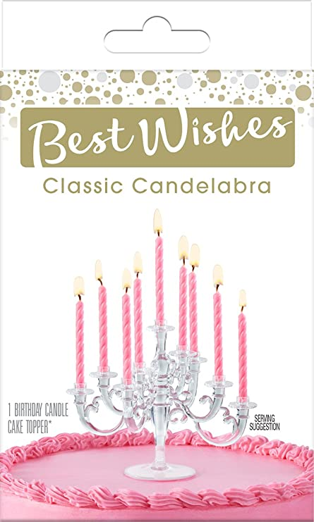Signature Brands Bwp25239 Best Wishes Premium By Cake Mate Topper Candelabra