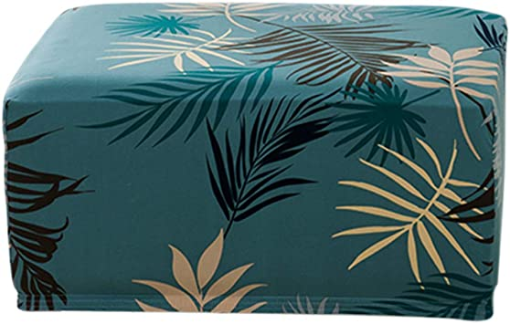 Imagen deLZDseller01 - Funda para Taburete Cuadrado, Funda de Tobillo Rectangular extraíble, Cubierta Rectangular para Taburete, Protector de sofá, Verde, Tamaño Libre
