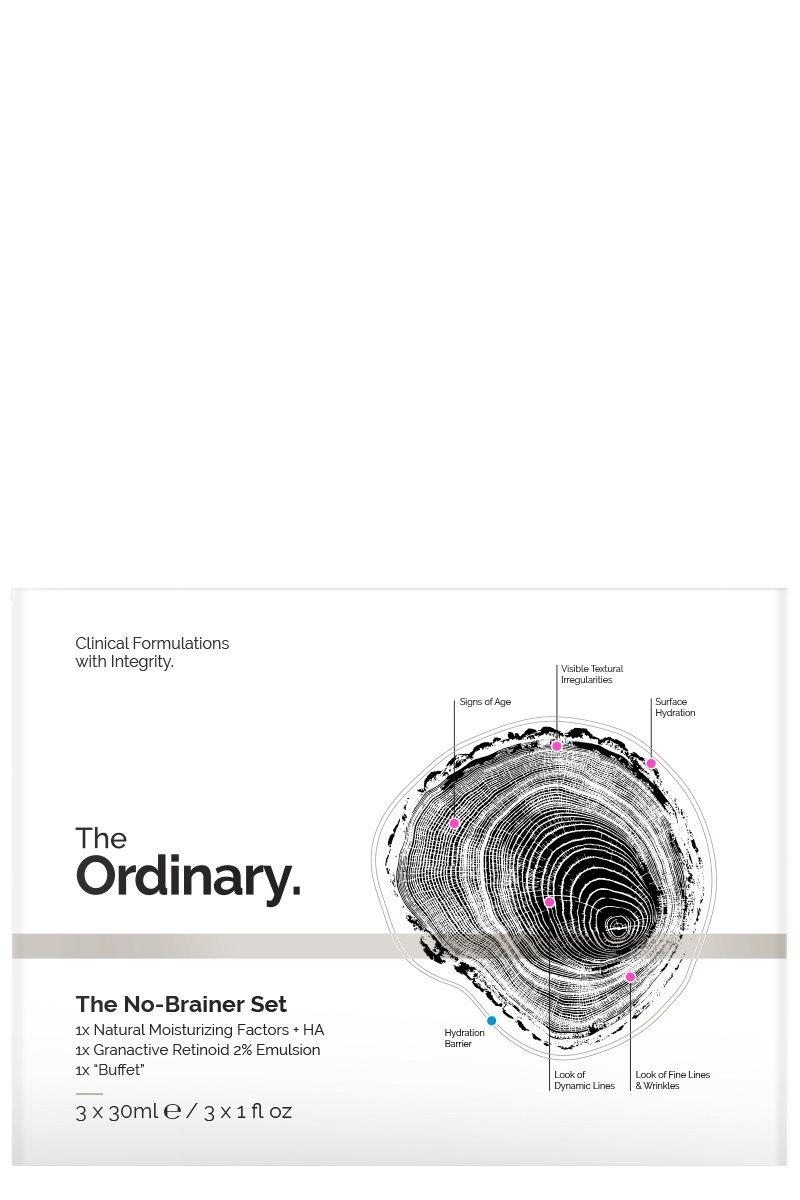 The Ordinary The No Brainer Set (Buffet, Granactive Retinoid 2% Emulsion, Natural Moisturizing Factor + HA) Deciem
