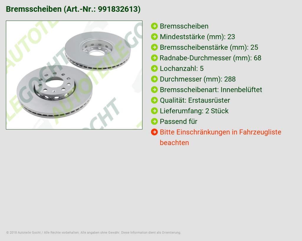 2 x BOSCH BREMSSCHEIBE VORNE 0986478546 AUDI 100 A4 A6 SEAT EXEO VW PASSAT