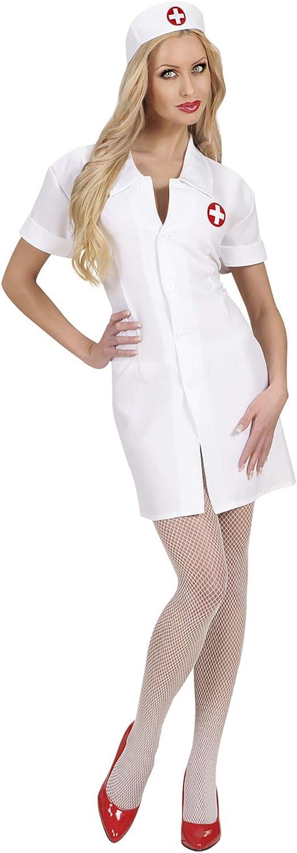 WIDMANN Sancto - Disfraz de enfermera de hospital adultos, talla XL (7203X)
