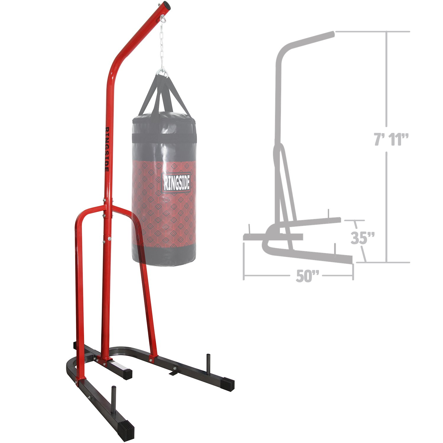 Ringside Prime Free-Standing Station Steel Boxing MMA Heavy Bag Stand by Ringside (Image #1)
