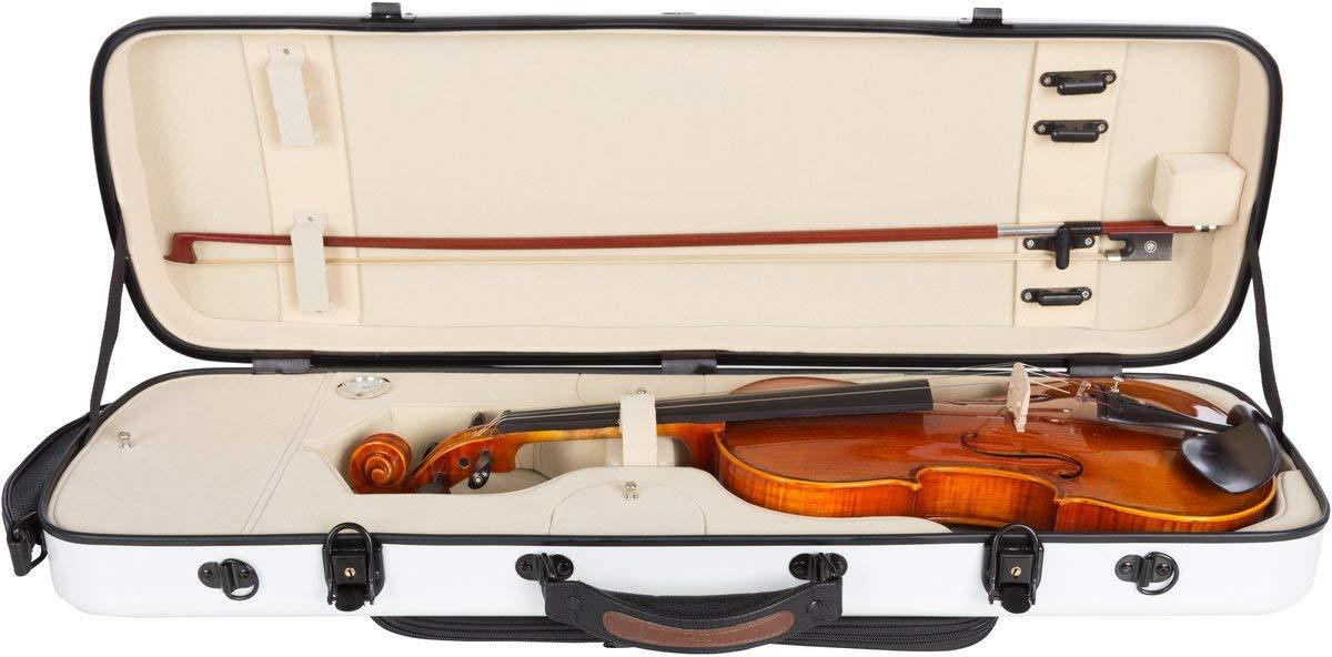 Estuche para violín fibra Oblong 4/4 white - cream M-Case: Amazon.es: Instrumentos musicales