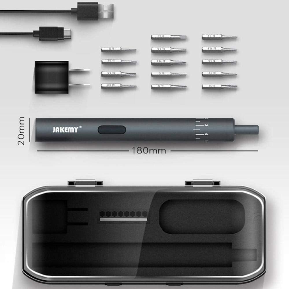 14 in 1 Electric Screwdriver Set for iPhone Repair and Maintenance-Black Black