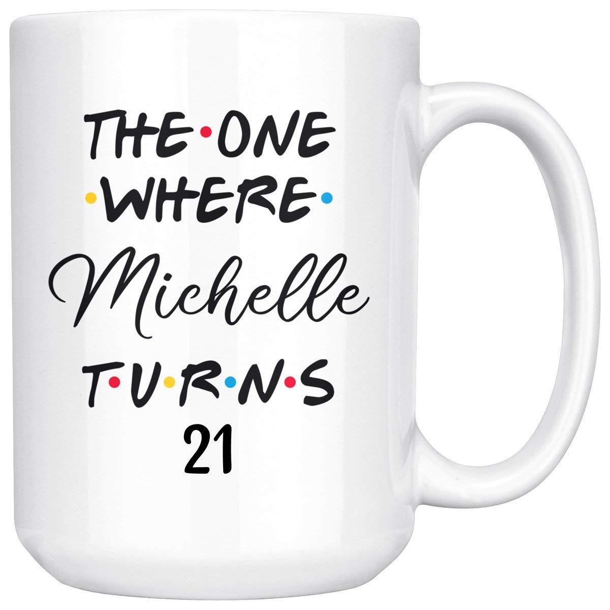 Personalized 21st Birthday Mug, 21 Birthday Mug, 21 Birthday Coffee Mug, Happy Birthday Party, Turning 21 Birthday, 21st Bday Gift For Her & Him, Twenty-first Birthday Mug, Milestone Birthday (15oz)
