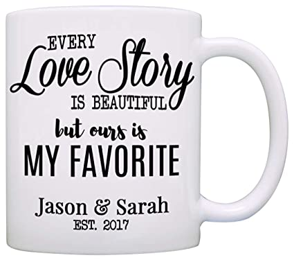 personalized romantic couples names gift coffee mug for wedding anniversary valentines day and christmas printed