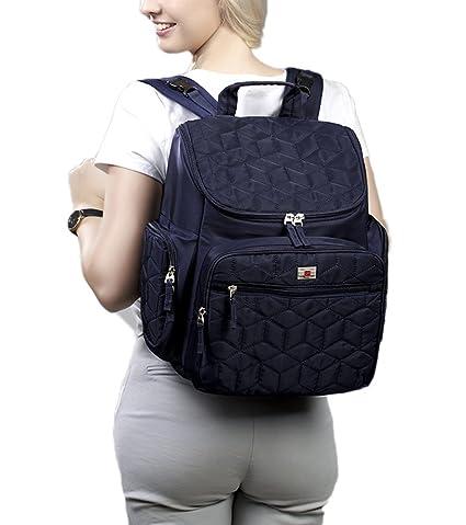 Bolsa de pañales a prueba de agua mochila de viaje, multifuncional paquete materno producido,