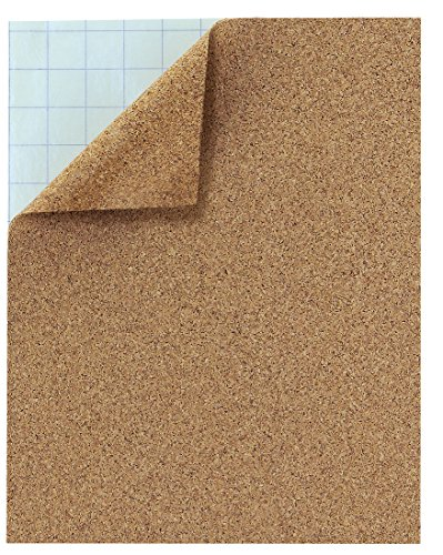 Hygloss Products Cork Sheets - 2 mm Thick Self Adhesive Cork Roll - 8.5 x 11 Inches, 2 Pack