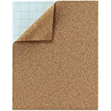 Hygloss Products Cork Sheets – 2 mm Thick Self Adhesive Cork Roll – 8.5 x 11 Inches, 2 Pack